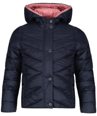 Girls Barbour Isobath Quilted Jacket, 10-15yrs - Navy