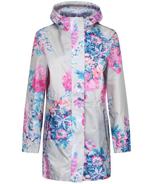 Women's Joules GoLightly Waterproof Jacket - Soft Grey Floral