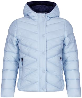 Girls Barbour Isobath Quilted Jacket, 2-9yrs - Powder Blue