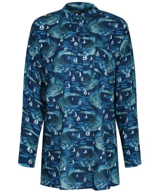 Women's Seasalt Polpeor Tunic Shirt - Penwith View Light Squid