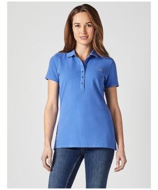 Women's Crew Clothing Classic Polo Shirt - Amparo Blue