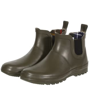Barbour Kid's Birtley Wellington Boots - Olive
