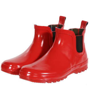 Barbour Kid's Birtley Wellington Boots - Coastal Red