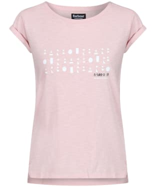 Women's Barbour International Backline Tee - Pale Rose