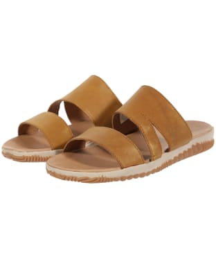 Women's Sorel Out 'N About™ Slide Sandals - Camel Brown