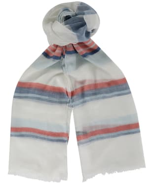 Women's Barbour Two Tone Wrap - Blue / Pink Stripe