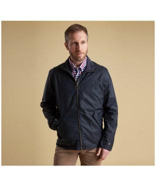 Men's Barbour Claxton Wax Jacket - Navy
