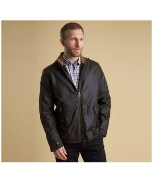 Men's Barbour Claxton Wax Jacket - Olive