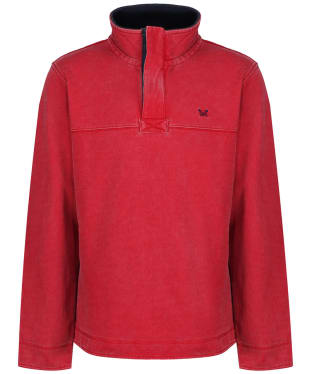 Men's Crew Clothing Padstow Pique Sweatshirt - Crimson