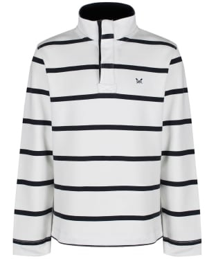 Men's Crew Clothing Padstow Pique Sweatshirt - White / Navy