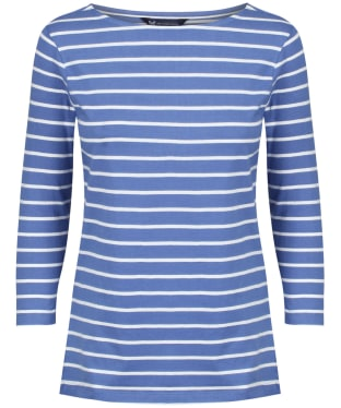 Women's Crew Clothing Essential Breton Top - Amparo Blue / White