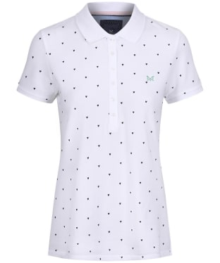 Women's Crew Clothing Classic Polo Shirt - Heart Print