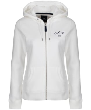 Women's Crew Clothing Zip Through Hoody - White Linen