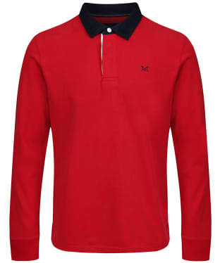 471e5600fe9 Men s Crew Clothing Long Sleeve Rugby Shirt - Red