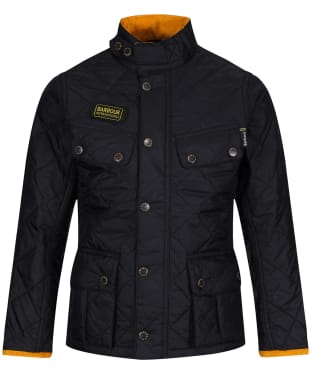Boys Barbour International Quilted Ariel Jacket, 2-9yrs - Black