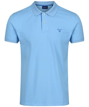 Men's GANT Contrast Collar Pique - Toy Blue