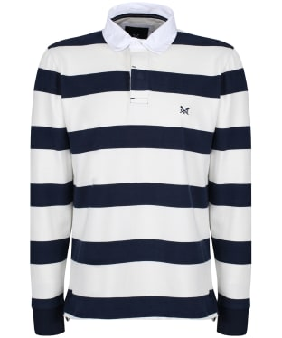 Men's Crew Clothing Long Sleeve Rubgy Top - Navy / White