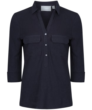 Women's Schoffel Marina Jersey Shirt Top - Navy