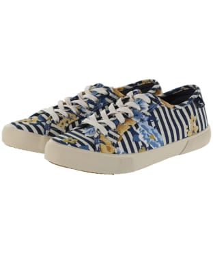 Women's Joules Coast Pumps - Navy Botanicals