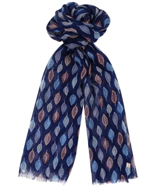 Women's Seasalt Pretty Printed Scarf - Studio Leaf Marine