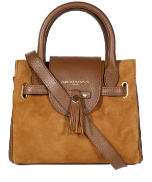 Women's Fairfax & Favor Mini Windsor Handbag - Tan Suede