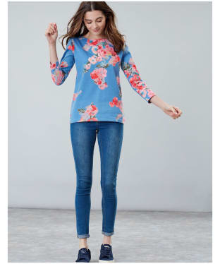 Women's Joules Harbour Printed Top - Blue Floral