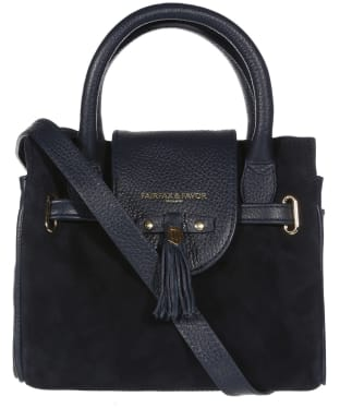 Women's Fairfax & Favor Mini Windsor Handbag - Navy Suede