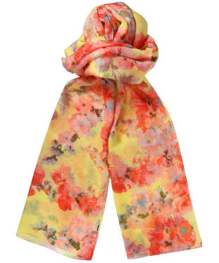 Women's Joules Wensley Scarf - Lemon Floral