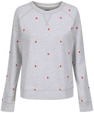 Women's Crew Clothing Embroidered Sweatshirt - Chalk Grey Marl
