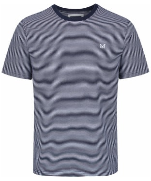 Men's Crew Clothing Fine Stripe Tee - Navy / White