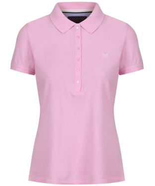 Women's Crew Clothing Classic Polo Shirt - Classic Pink