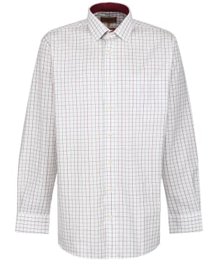 Men's Schoffel Burnham Tattersall Shirt - Ruby Check