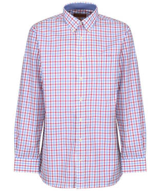 Men's Schoffel Holkham Shirt - Red / Blue