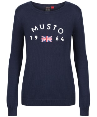 Women's Musto Yacht Crew Neck Sweater - True Navy