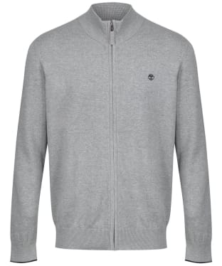 Men's Timberland Williams River Full Zip Sweater - Grey Heather