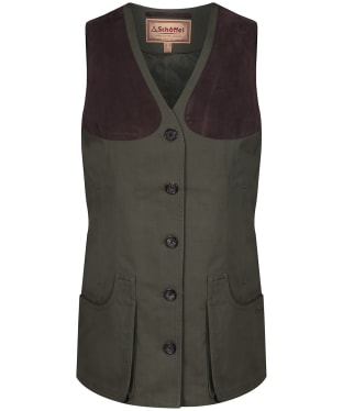 Women's Schoffel All Season Shooting Vest - Dark Olive