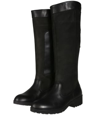 Women's Dubarry Clare Waterproof Leather Boots - Black