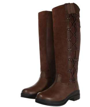 Women's Ariat Grasmere H2o Full Calf Waterproof Boots - Chocolate