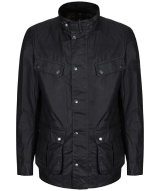 Men's Barbour International Lightweight Duke Waxed Jacket - Black