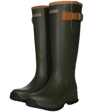 Women's Ariat Burford Waterproof Rubber Boots - Olive