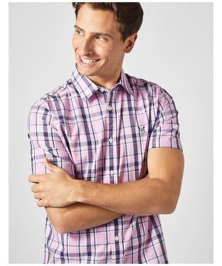 Men's Crew Clothing Pendower Check Shirt - Pink / Navy