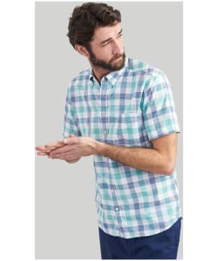 Men's Joules Wilson Short Sleeve Check Shirt - Green Check