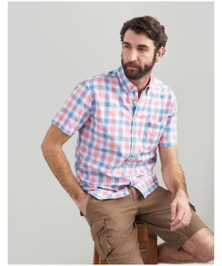 Men's Joules Wilson Short Sleeve Check Shirt - Pink Check