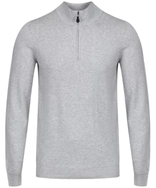 Men's Alan Paine Selhurst Half Zip Mock Neck Sweater - Dove