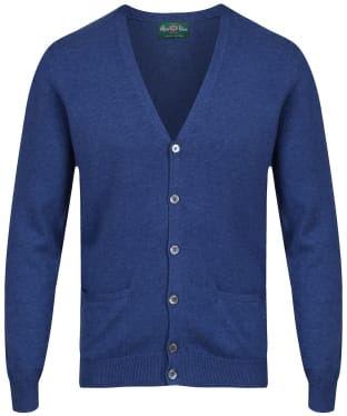Men's Alan Paine Ashburton Vee Neck Cardigan - Indigo