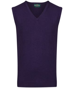 Men's Alan Paine Ellerby Vee Neck Slipover Vest - Aubergine
