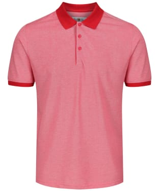 Men's Alan Paine Kirdford Oxford Pique Polo Shirt - Red