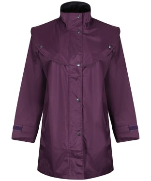 Jack Murphy Heritage Cotswold Waterproof Cape Coat - Blackberry