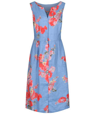 Women's Joules Lisia Linen Dress - Blue Floral