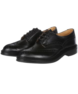 Men's Trickers Bourton Country Shoes - Black Calf